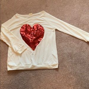 Sequence heart shirt